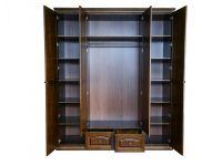 Шкаф Фантазия распашной 4х дверный из дерева (с ящиками)