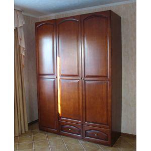 Шкаф Фантазия распашной 3-х дверный из дерева (с ящиками)