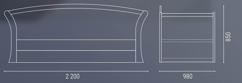 Кровать Адриатика габаритные размеры