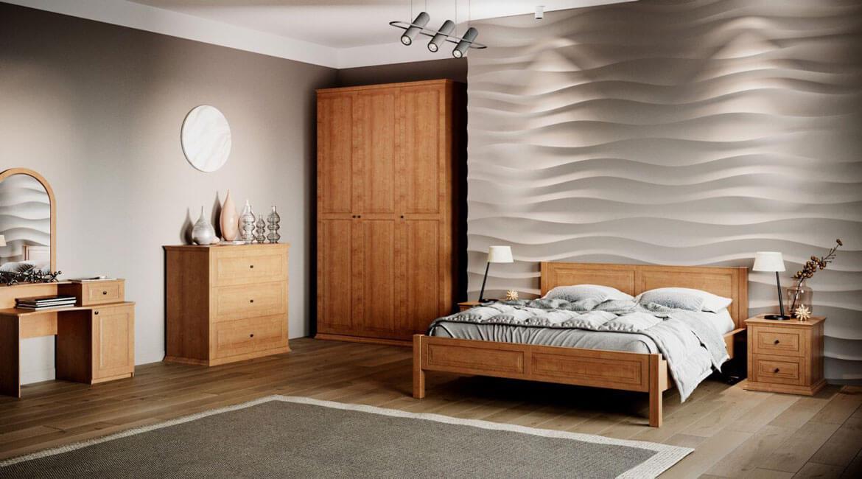 Спальный гарнитур из массива дерева
